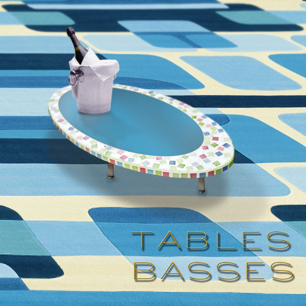 TABLES BASSES. MEUBLES D'ART DESIGN DE LUXE